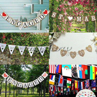Wedding Party Bunting Banner Garland Photo Props Hanging Decor Sign Hen party UK