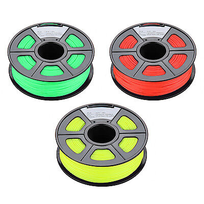 SO New 1.75mm Glow in the Dark PLA 3D Printer Filament - 1kg Spool (2.2 lbs)