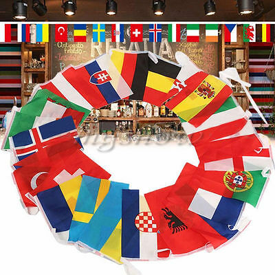 24pcs Countries World String Flag 7M Decoration For Bar Party Banner Bunting