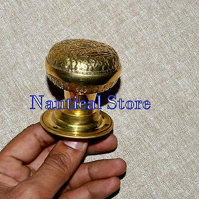 Victorian Brass Centre Door Knob Handle Pull Architectural Antique Old Vintage.