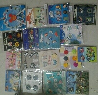 Disney TRADING PINS! 92 Pin Lot - Brand New 14 Booster Sets
