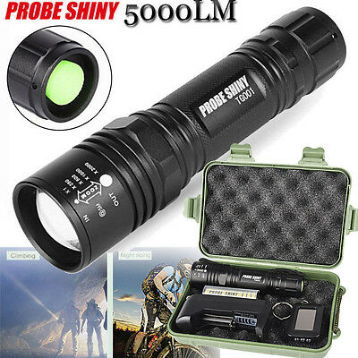 5000LM Police Tactical Cree T6 LED Flashlight 18650 / AAA Zoomable Torch Lamp