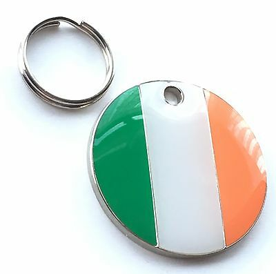 Personalised Engraved Ireland Tri Colours Dog/Cat Pet ID Tag 25mm