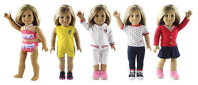 "5 Set Doll Clothes For 18""American Girl Doll Handmade Casual Wear Clothes"