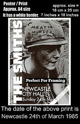 The Smiths live concert Newcastle City Hall 24th March 1985 A4 size poster print