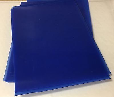 Polyurethane A4 Sheet,0.5mm,1mm,1.5mm and 2mmthk, Blue 60 shore