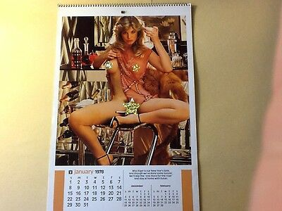 PLAYBOY Playmate Wall Calendar 1978. No Sleeve. Good Condition. No Ink Marks.