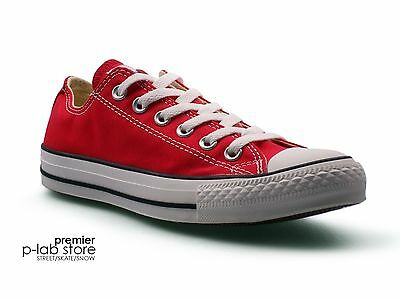 Converse Chuck Taylor All Star Ox Low Top Red Canvas Unisex Trainers. New