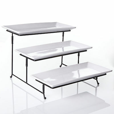 Best Cake Serving Platter w 3 Tiers Muffin Tray Stand Food Server Plate Rack NEW
