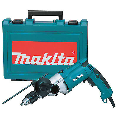"Makita 0.75"" Variable 2 Speed 6.6 Amp Motor Corded Hammer Drill & Case 