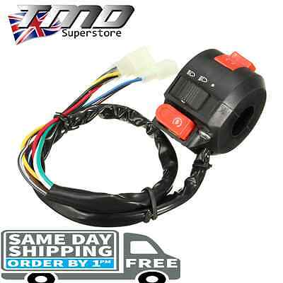 Universal Motorcycle Handle Bar Control Light On Off Switch Indicator Motorbike