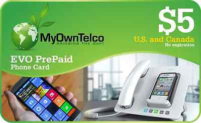 New USA / Canada $5 PrePaid Calling Card - Instant PIN delivery! Phone Card!