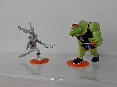 Bugs Bunny Looney Tunes Decopac 1995 2 x Figur Space Jam Basketball -rar-