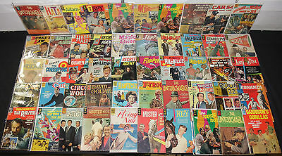 VINTAGE DELL GOLD KEY SILVER TV MOVIE COMIC LOT 52pc BEWITCHED I, SPY (3.0-8.0)
