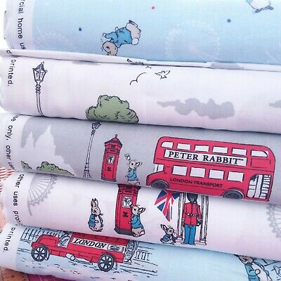 £9.99pm Beatrix Potter Peter Rabbit Fabrics-11 Designs to choose from-all cotton