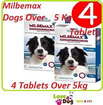 Milbemax For Dogs Over 5kg - 4 Tablet Value Pack