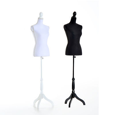 Female Mannequin Torso Dress Display Tripod Stand Adjustable Height Modern