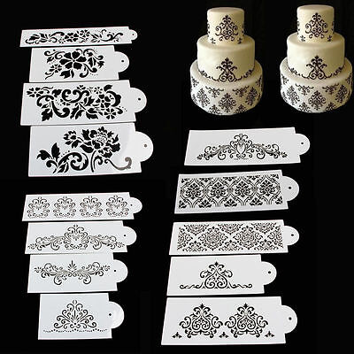New Cake Cookie Fondant Side Flower Baking Wedding Stencil Decorating DIY Tools