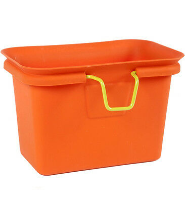 Orange Kitchen Freezer Scrap Collector Compost Bin