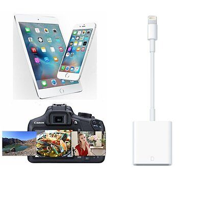 8 Pin Camera SD Card Reader Adapter Cable For iPhone 5/SE/5s/6/6s/6 Plus//7 Plus