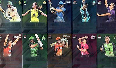 2016/17 Tap N Play CA & BBL Cricket Young Stars 10-Card Insert Set
