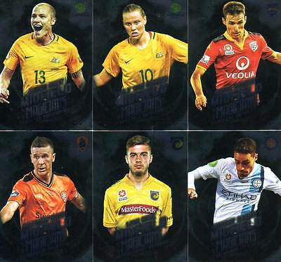 2016/17 Tap N Play FFA & A-League Soccer Midfield Magicians 12-Card Insert Set