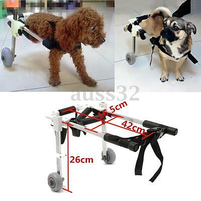 """Cart Height 10"""" Pet Wheelchair For Handicapped Hind Legs Dog Cat Stainless Steel"""