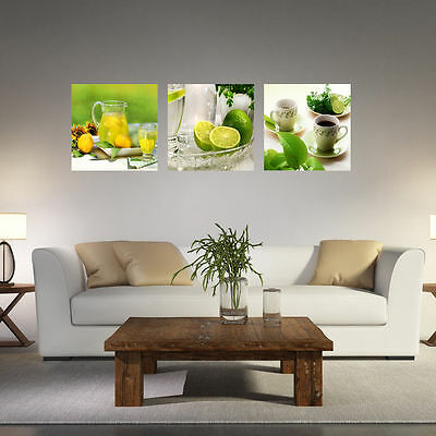 3 Panel Modern Oil Painting Fruit Wall Art Picture Unframed Canvas Home Decor