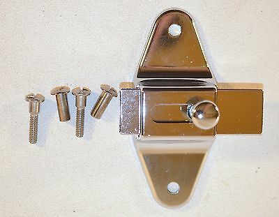 New Old Stock Large Chrome Latch Lock Door