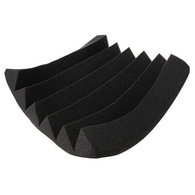 Black Acoustic Soundproof Sound Stop Absorption Pyramid Studio Foam 30x30x5cm