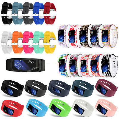 Sport Silicone Replacement Watch Wrist Strap Band For Samsung Gear Fit 2 SM-R360