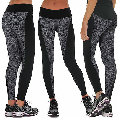 Womens Leggings Yoga Sports Athletic Fitness Stretch Pencil Pants Skinny Trouser