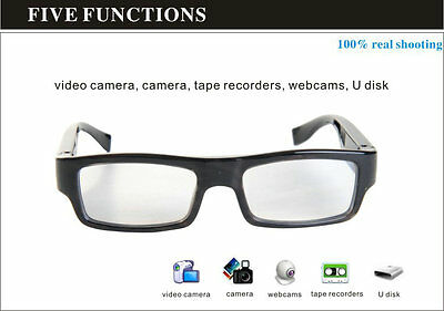 HD 720P Glasses Camera Spy hidden with TF Card Slot  Mini DVR