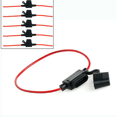 5X Hot In-Line Standard Car Blade Fuse Holder Waterproof 30A 12V DC