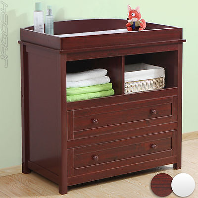 Baby Changing Table Unit Station Chest Drawers Shelves Storage Nursery Furniture