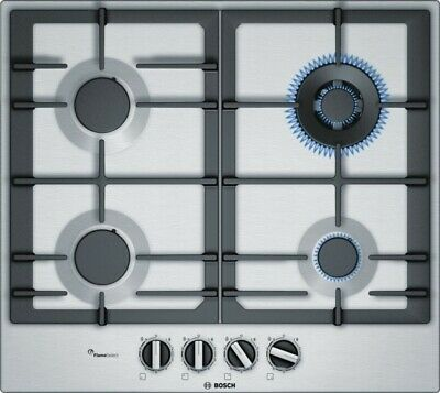 BOSCH PCH 615B90E Built-in Brushed Steel Kitchen Gas Hob Wok Burner New !!!