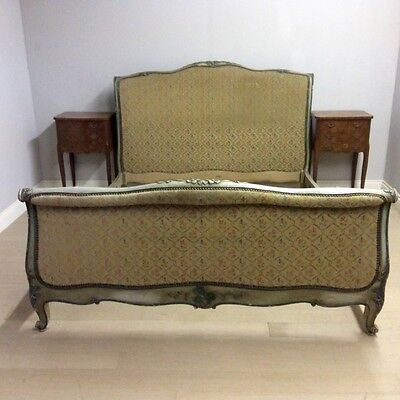 PAINTED SCROLL END KINGSIZE BED    Ref a13893