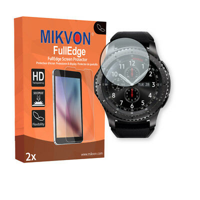 2x Mikvon FullEdge screen protector for Samsung Gear S3 Frontier foil
