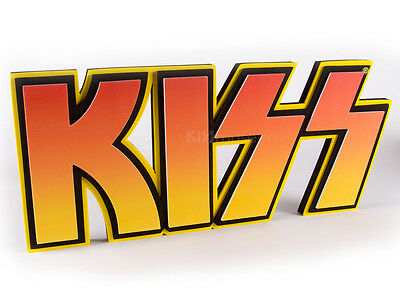 Official KISS 3D LOGO FOAM WALL SIGN, orange/yellow gradient, 22 inches wide