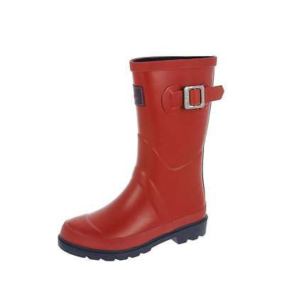 Joules Kids Junior Field Welly Red Various Sizes