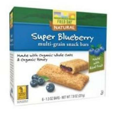 Cereal Bar Og3 Blueberry Fl 7.8 OZ (Pack of 6)