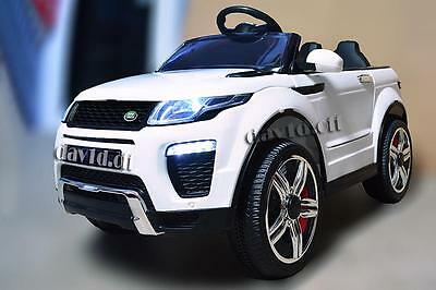 12V Range Rover Evoque Electric Battery Kid Ride On Car Remote Leather Seat WHT