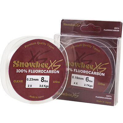 Snowbee XS Fluorocarbon Line - Clear -15lbs x 100m