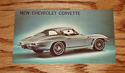 1963 Chevrolet Corvette Sting Ray Sport Coupe Post Card 63 Chevy Blue