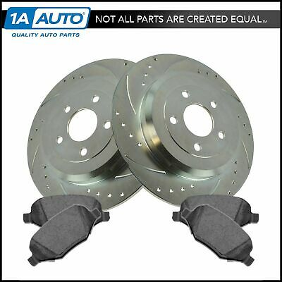 Nakamoto Performance Brake Rotor Drilled Slotted & Ceramic Pad Rear Kit for Ford