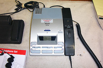 Dictaphone Digital Model Lfh-9750 By Philips Transcriber/dictation Unit Working