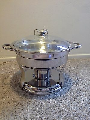 Cookware Chafing Dish Serving Catering Stainless Steel Warmer Steamer Glass Lid