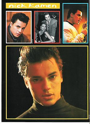 NICK KAMEN '2 pages of pics' magazine PHOTO/Poster/clipping 11x8 inches