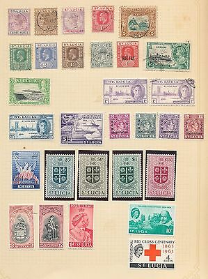 St Lucia QV/QE Mint&Used (Approx 50 Items) G19327