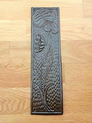 Bronze Finish Arts & Crafts Finger Door Push Plates Fingerplate
